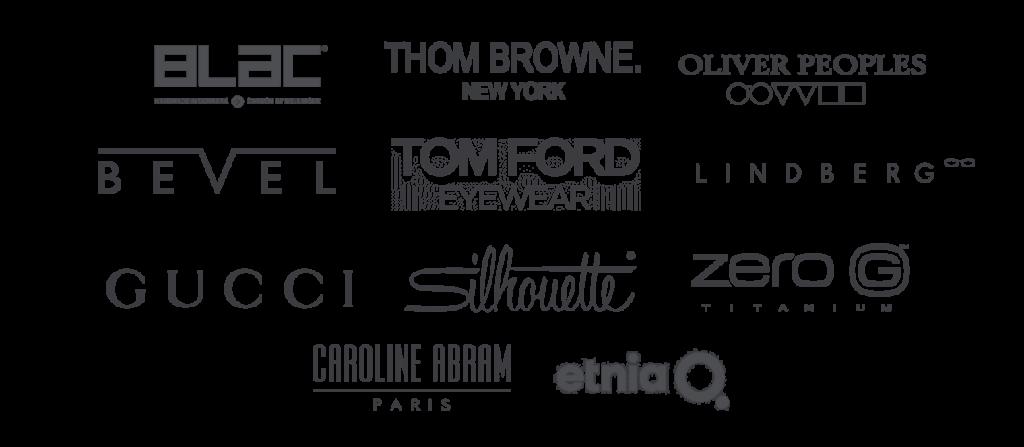 Optical brand logos