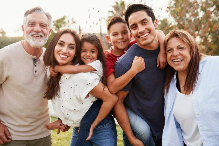 multigenerational family outdoors